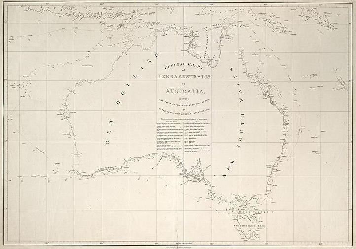 Matthew Flinders Map of Australia - National Library of Australia
